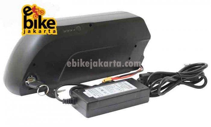 Baterai Sepeda Listrik 36V 17.4AH Downtube Dolphin 2 Shark 10S6P 60 Cell Panasonic Ori Japan 5C NCR18650PF 2900mAH