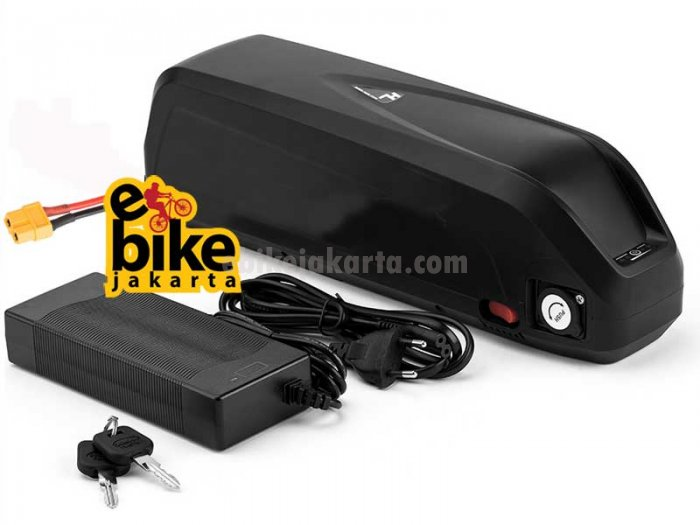 Baterai Sepeda Listrik 48-52V 14.5AH Hailong 3 14S5P 70 Cell Panasonic Ori Japan 5C NCR18650PF 2900mAH