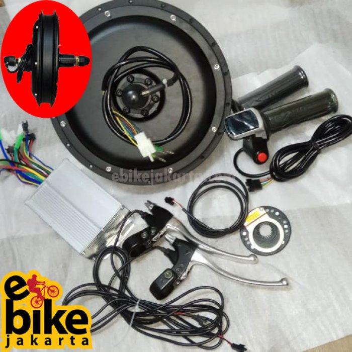 Kit Rear Hub Motor Germany Motor Brushless 48V 500W | SPROCKET CASETTE | Sinewave with PAS Tanpa RIM/Velg