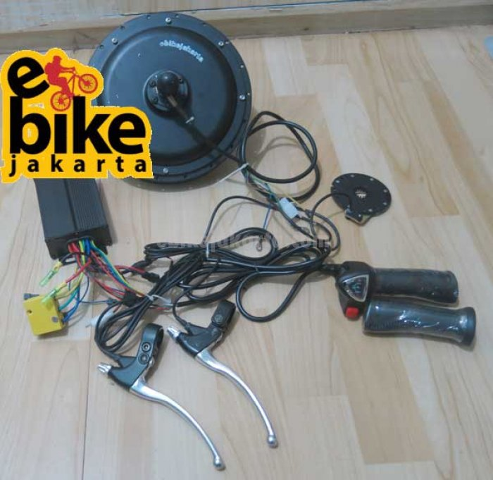 Rubah ke sepeda listrik Kit Rear Hub Motor Germany motor brushless 48v 500w SPROCKET CASETTE Sinewave with PAS Tanpa RIM/Velg