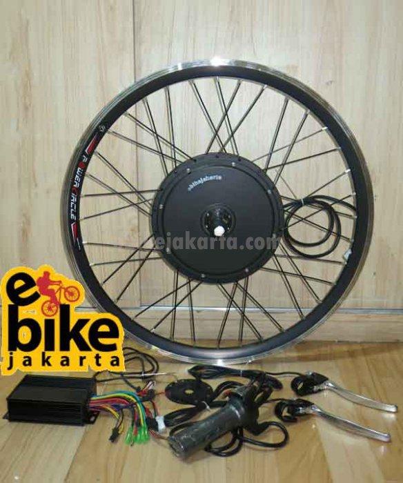 """Rubah ke sepeda listrik Kit Rear Hub Motor Germany motor brushless 48v 500w Sprocket Cassette Sinewave with PAS Inc RIM/velg 26"""""""