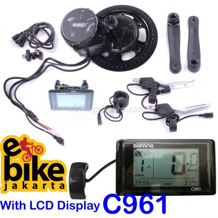 Mesin Sepeda Listrik MidDrive 8fun Bafang 48V 750W paket C961 dan lebar BB 68mm for MTB (KD174)