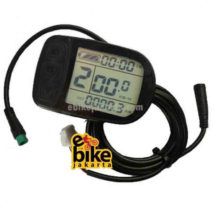 KT-LCD5 24V/36V/48V Electric bike LCD Display untuk sepeda listrik (ZCKTD05C)